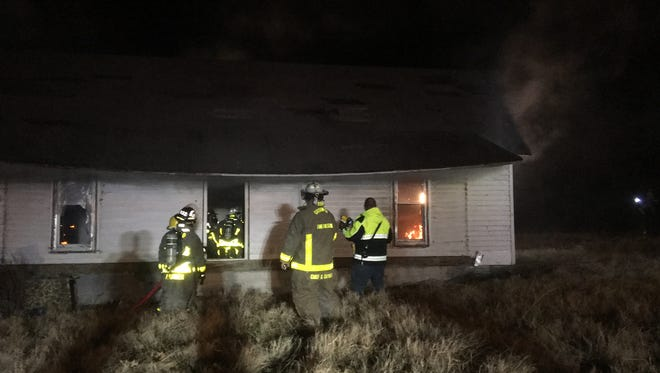 Gibson County Fire Department firefighters tested a new fire solution Thursday night at a home in Bradford.