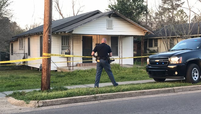 Hattiesburg police respond to a call about an unresponsive infant Saturday afternoon at a house on Seventh Street.