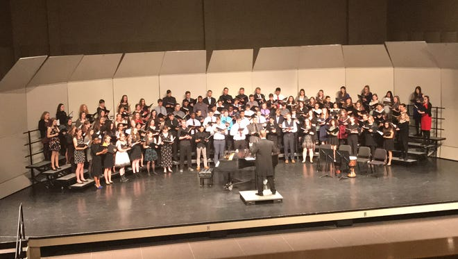 Three Kiel High School students participated in the 2017 Vocal Arts Festival at University of Wisconsin-Milwaukee Feb. 3-4. As part of the event, the students joined a 90-person honors choir that featured participants from across the state.