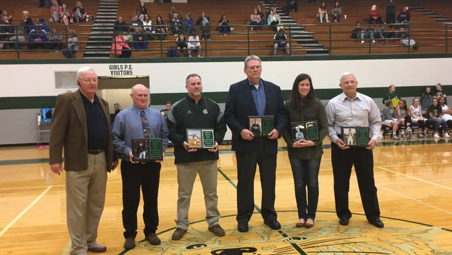 Five new members were inducted into Greenbrier's athletic Hall of Fame on Friday Jan. 27, 2018.