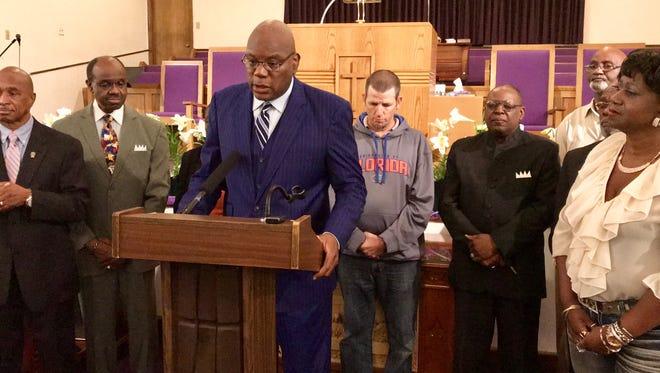 The Rev. R.B. Holmes of Bethel Missionary Baptist Church.