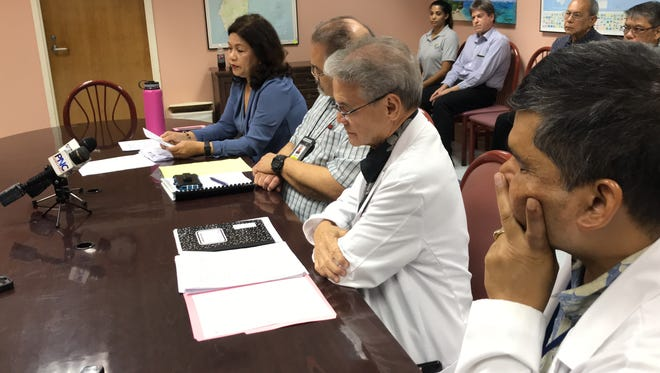 In a light of the recent repeal on the 2 percent sales tax, Administrators of Guam Memorial Hospital and its vendors at a press conference Tuesday, July 3, expressed their concerns.