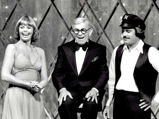 Toni and Daryl with George Burns on The Captain and