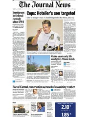 The front page of the Tuesday, July 14, 2009 Westchester-Putnam edition of The Journal News leads with news that police were investigating the killing of Ben Novack Jr.
