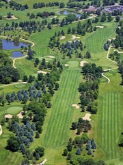 This aerial view is of Door Creek Golf Course, near Cottage Grove.