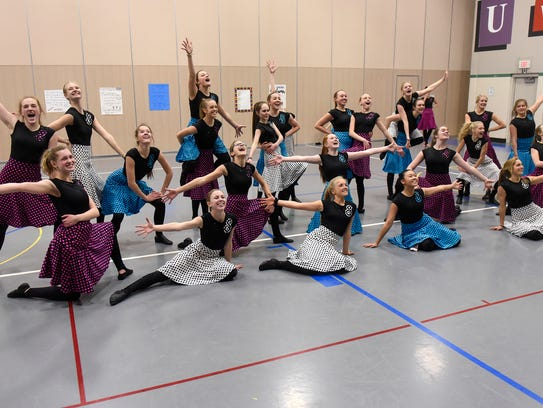 Sartell Dance Team members finish a routine during