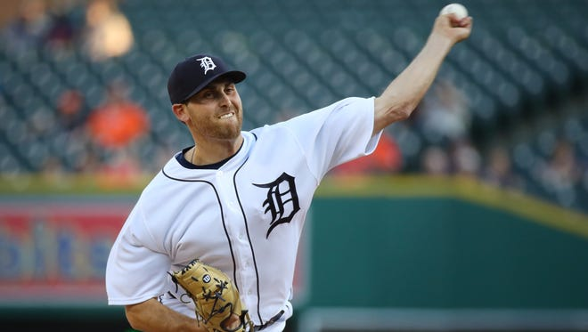 Matthew Boyd throws a second-inning pitch against the Rays at Comerica Park on Tuesday.