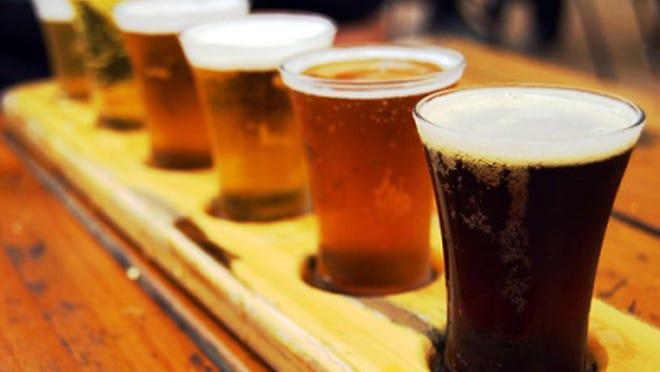 Beer tasting sampler.