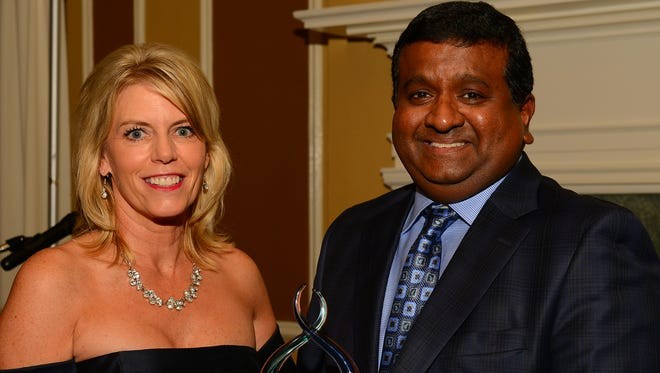 Dr. Chintalapudi Kumar of McLaren Greater Lansing was presented with the inaugural Janet M. Wendorf Outstanding Caregiver Award on Oct. 14 when the McLaren Greater Lansing Foundation held its Annual Gala at the Country Club of Lansing.