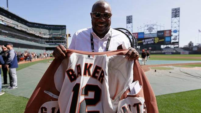 Dusty Baker was welcomed back by the San Francisco Giants organization after his surprise firing by the Nationals.
