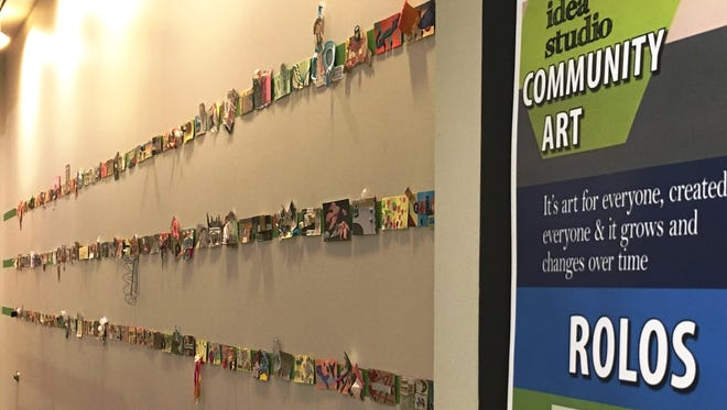 The Rolo public art project at the Fond du Lac Public Library's Idea Studio will be coming down to make way for the new project: Build-a-Zine. All Rolo artists are invited to get their artwork any time Oct. 17 through 22. Rolos left after Oct. 22 will be discarded.