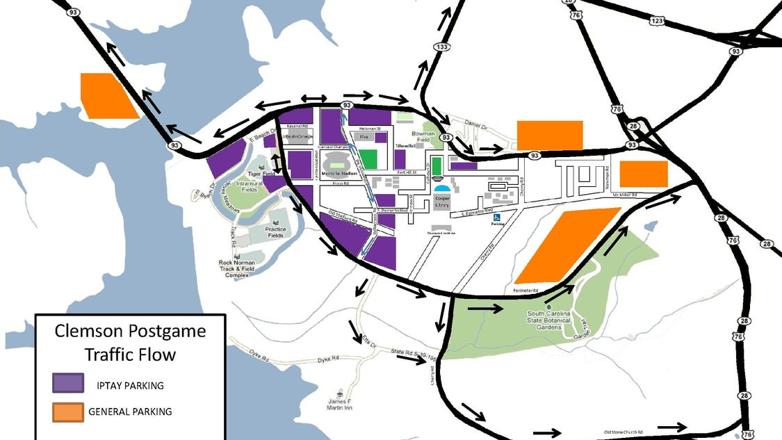 parking, rules traffic New football games Clemson for