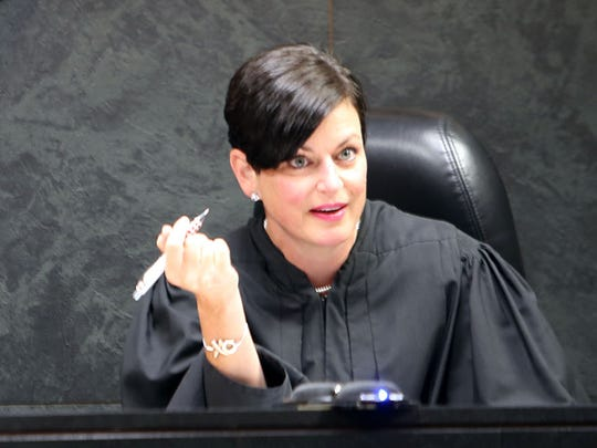 Oakland County Family Court Judge Lisa Gorcyca on the bench in July 2015.