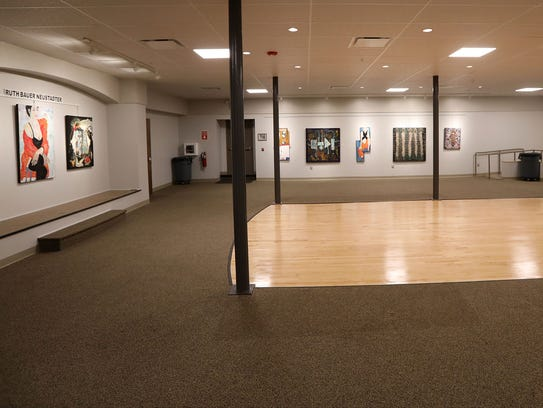 The lower level gallery of the Hackensack Performing