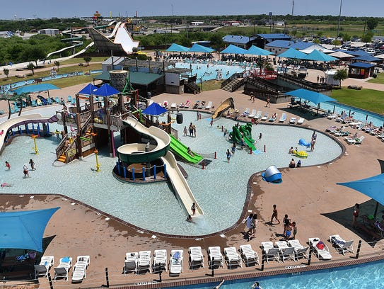 Castaway Cove Waterpark was in full swing Friday afternoon