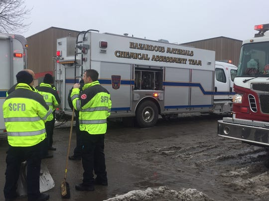 St. Cloud Fire Department responds to a chemical reaction