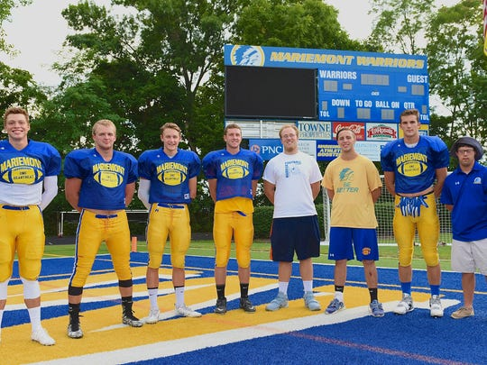 The senior Mariemont Warriors are, from left, Ryan