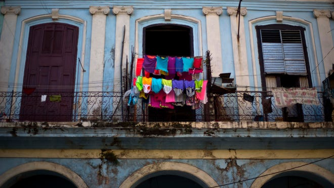 Laundry hangs to dry on a balcony in Old Havana, Cuba, on Dec. 29. Cuba and the U.S. announced on Dec. 17 that the two countries would resume diplomatic relations for the first time since 1961.