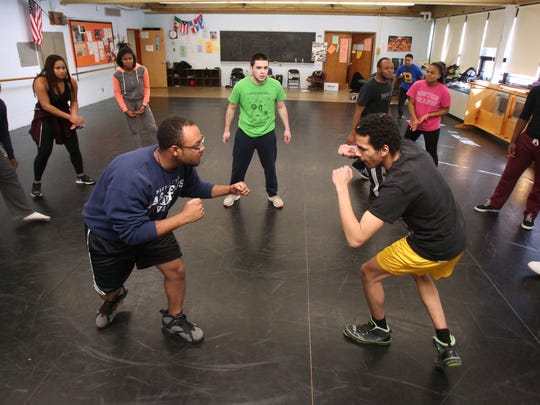 Students rehearse for West Side Story at Spring Valley High School Feb. 20, 2015.
