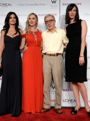 Woody Allen, second from right, writer/director of