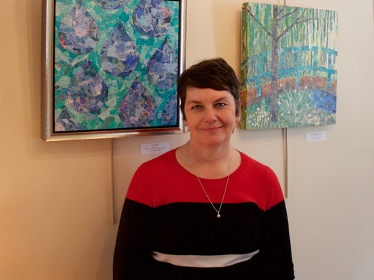 Paintings byCotter at gallery PHOTO CAPTION