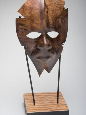 """""""Vision Reigns"""" by Scott Grove, created with a mold of Garth Fagan's face."""