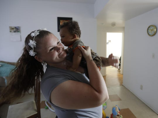 Despite some relapses, Shawnee Wilson of Indianapolis has been clean for several months and is convinced she'll be able to keep it up. She'll have to if she's to keep custody of her son, Kingston.