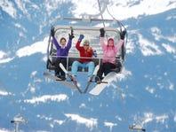 Women on ski lift