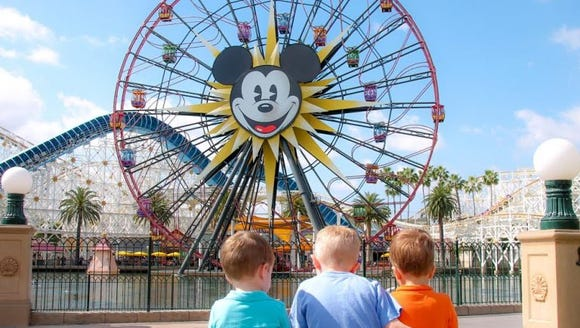 Becca Robins' sons at Disneyland.