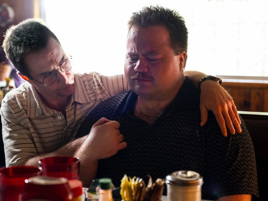 "Sam Rockwell, left, and Paul Walter Hauser in ""Richard Jewell."""