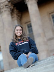 El Paso High School senior Brynne Blaugrund fell in