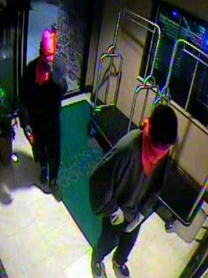 Armed robbery suspects  caught on security cameras.