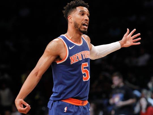 New York Knicks guard Courtney Lee (5)