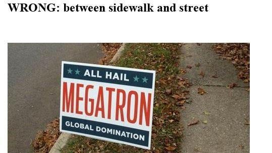 Incorrect sign procedure.