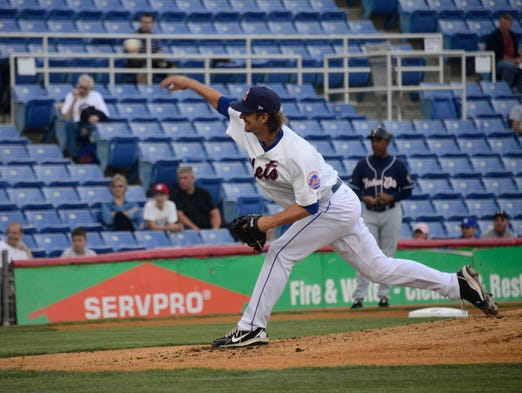 Binghamton's Greg Peavey pitched just two innings in Thursday night's playoff game at NYSEG Stadium.