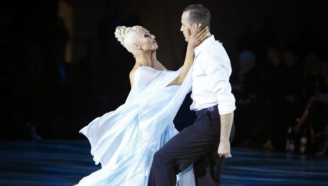 "Inna Berlizyeva and Artem Plakhotnyi perform during ""America's Ballroom Challenge."""