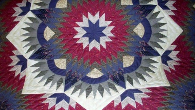 This Broken Star quilt is among the more than 100 that will be featured this weekend at the Amish Quilt and Craft Show near Jacksonport.