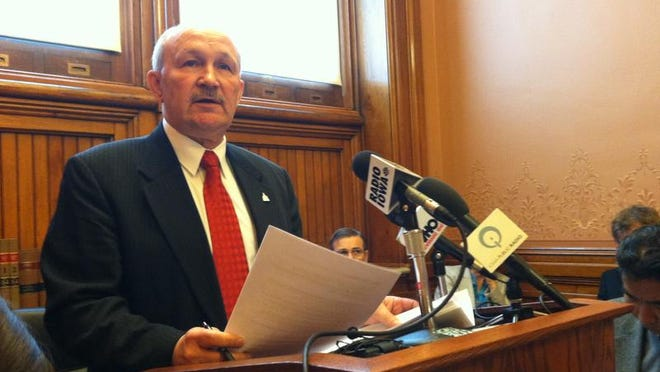 Iowa state Sen. William Dotzler, D-Waterloo, held a news conference Wednesday calling for a federal investigation into Iowa Workforce Development.