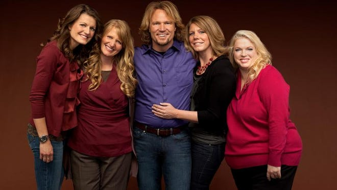 Kody Brown poses with his wives: Robyn (from left), Christine, Meri and Janelle.