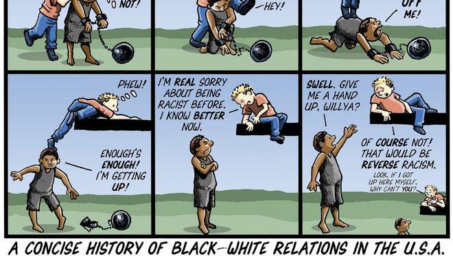 Concise history - cartoon