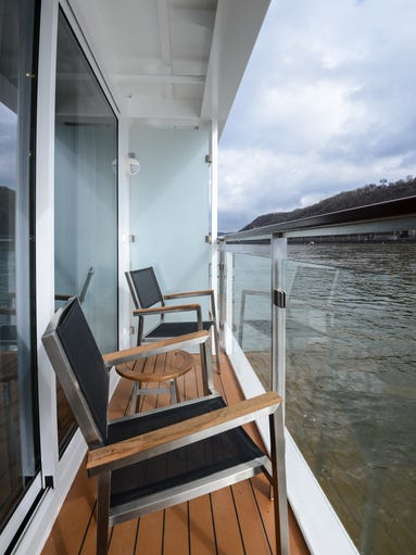Though cozier than balconies on oceangoing cruise ships,