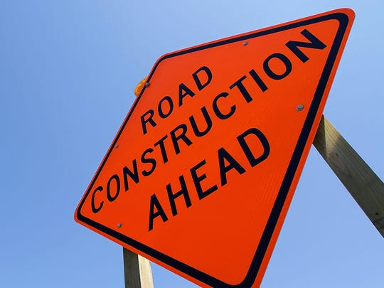 A road construction sign is shown in this file photo.