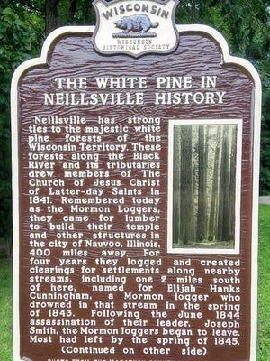 Neillsville will dedicate its new historical marker on Sept. 10.