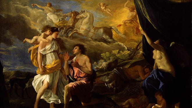 "French artist Nicholas Poussin's masterpiece ""Selene and Endymion"" (c. 1630) at the Detroit Institute of Art."