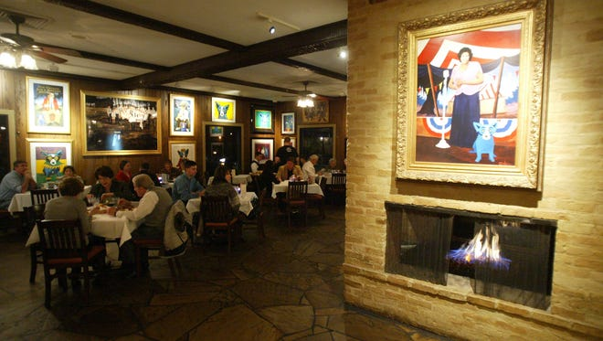The Blue Dog Cafe is one of several restaurants in Lafayette offering refuge from the cold with fireplace located in the dining area. By Leslie Westbrook January 10, 2008