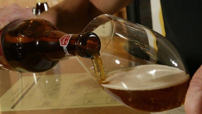 Ales with big flavors should be poured into red-wine glasses.