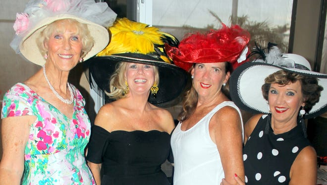 Charming chapeaux: Susie Walsh, Sharon Cook, Kathryn Rogers and Candy Seward.