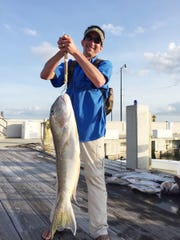 Samuel Sandoz of Biloxi broke the record for Tilefish with an 18-pound, 4.17-ounce fish he caught on April 3.