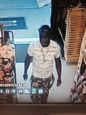 Pictured is a man suspected of passing fake $100 bills in Waynesboro.