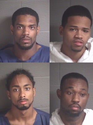 Clockwise from top left: Maurice Angelo Pearce Jr., Devontae Dayshawn Perry, Lonnie James Moton, Malik Hideo McCrary